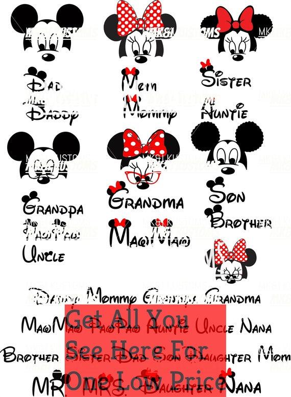 7 Minnie Mickey Heads Disney Svg Mickey Mouse Svg Minnie