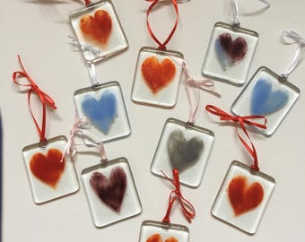 Little fused glass Hearts