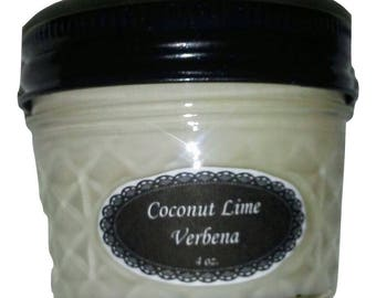 4 oz. Coconut Limr Verbena Soy Wax Candle
