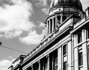 Nottingham Black and White  - Council Building - Architecture - Nottingham Print  - Fine Art Photography - Council Building BW - 0120