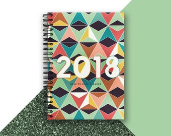 SUPER SALE \2018 Diary \ A5 \ Retro \ 2018 Weekly Planner \ Diary \ 2018 Agenda \ 2018 Planner \ Planner \ Valentines \ Gift for her