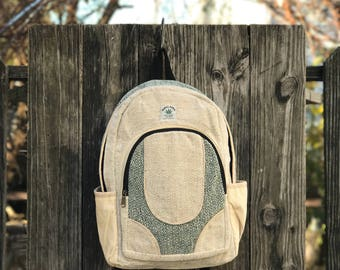 Pure Hemp backpack Black Natural
