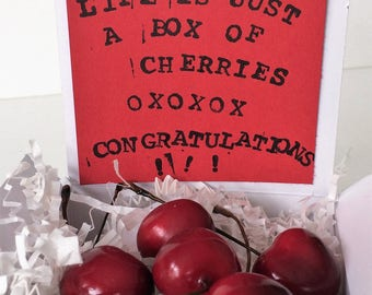 Congrats! Life is Just a Box of Cherries. Congratulations Gift. Congratulations Gift Box. Sweet Congratulations Gift Idea. Congratulations