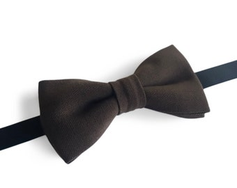 "Brown Pre Tied Bow Tie ""Deledda"", Best Handmade Gift For Man, Weddings, Birthday, Valentines Day"
