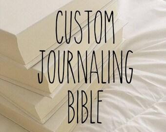 Custom Journaling Bible // EVS