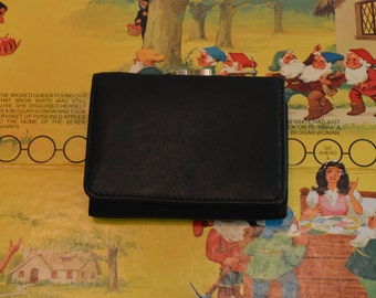 Small Black Genuine Leather Wallet
