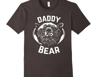 PAPA Bear shirt father's day new papa t-shirt Daddy tee - Daddy Bear funny dad Shirt gift for Men