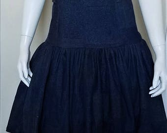 CED Clothing Sample Sale Denim Patchwork Drop-waist Dress