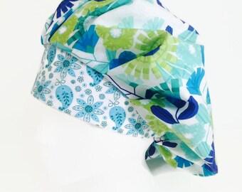 Paisley Paradise Bouffant Scrub Hat Scrub Hat, OR Hats, Scrub Hats for Women, ORHatsByBonita, Surgical Scrub Hat, Surgical Scrub Cap