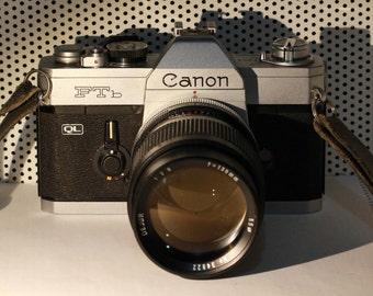 Canon FTb QL SLR with Dejur 135mm Prime Lens