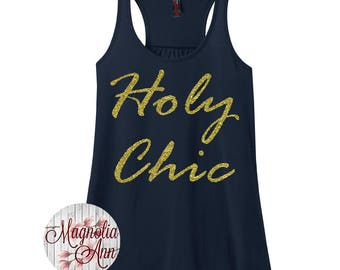 Holy Chic, Women's Racerback Tank Top in 9 Colors in Sizes Small-4X, Plus Size