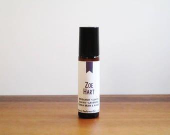 ZOE HART / Bergamot Lemon Guava Lavender Tonka Bean & Amber / Tv Inspired / Hart of Dixie Collection / Roll-On Perfume Oil