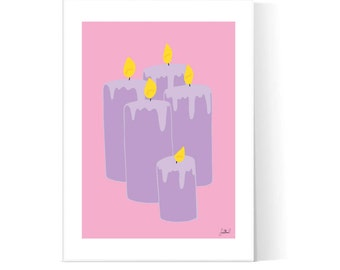 Candles Illustration / Magic Poster / Witchy Wall Art / Teen Bedroom Poster / Printable Art / Instant Download / 2JPEG Files