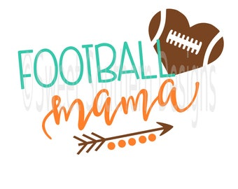 Football mama SVG DXF PDF instant download design for circuit or silhouette