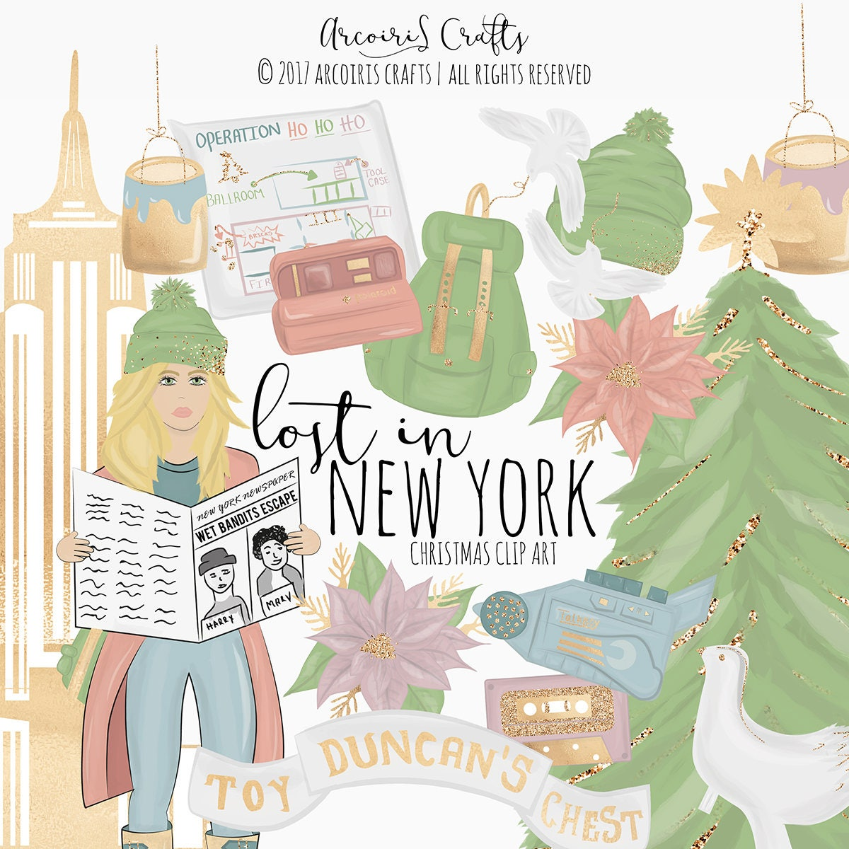 Lost in New York Clip Art Christmas Digital Art Home Alone