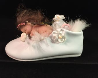 Fairy, Miniature, Whimsical, Pixie baby, collectable, Ooak Handmade