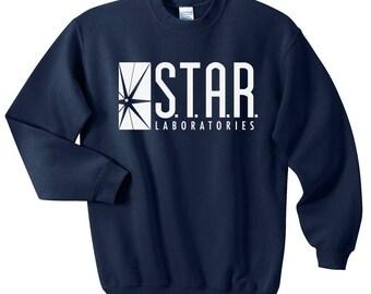 STAR Laboratories sweatshirt - Team Flash - STAR Labs crewneck - Star lab hoodie - Star Labs sweatshirt - Star Labs hoodie