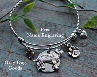 Labrador Bracelet, Labrador Retriever Jewelry, Lab Bracelet, Gift for Dog Lover, Read Full Listing Details Prior To Ordering