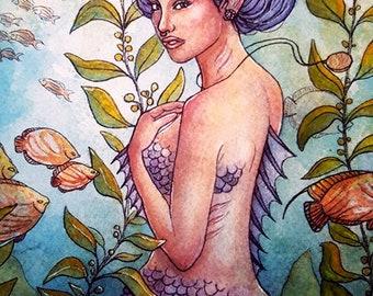 11x14 By Land or Sea Fine Art Mermaid Large Print