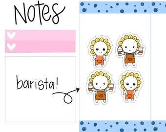 Barista Work Planner Sticker| Coffee Sticker| Work Tracker| Coffee| Coffee Tea Barista Server Cafe Coffee Shop Planner Sticker (M22)