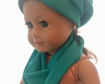 "Doll Hat and Infinity Scarf 18"" Doll"