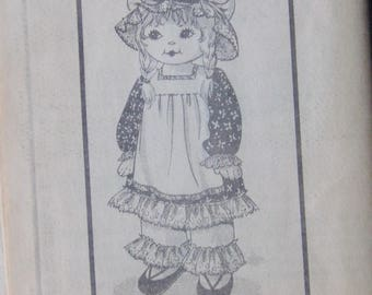 "Vintage 25"" Cloth Doll & Clothes Pattern Mail Order 1960s UNCUT"