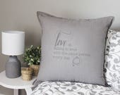 Love declaration pillow. ...