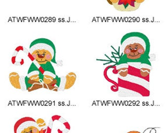 GingerBread-Christmas ( 10  Machine Embroidery Designs from ATW ) XYZ17K