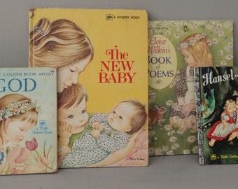 vintage Golden Book Lot of 4  by Eloise Wilkin My New Baby, Book of Poems Eloise Wilkin book Lot 1948-1988