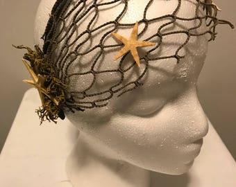 Starfish Mermaid Headpiece, Mermaid Crown, Real Starfish Headpiece, Mermaid Headpiece, Mermaid Headband, Gift