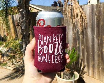 Beer Can Cooler | Beer Holder | Fall Can Cooler | Autumn Can Cooler | Gift for Beer Lover | Personalized Can Cooler | Keri Christine