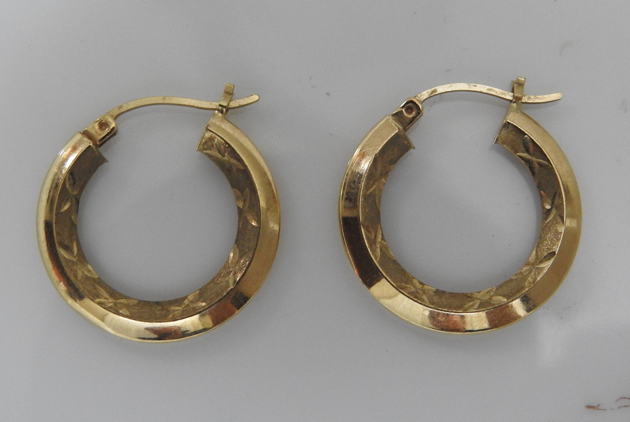 hoops fullxfull jdqe pierced listing hoop vintage big gold il earrings