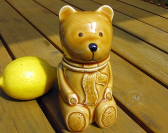 Bear Honey Pot / Bear Honey Jar / Pottery Honey Pot / Honey Bear / Jar With Lid / Ceramic Honey Pot / English Pottery / Jam / Teddy Bear Jar