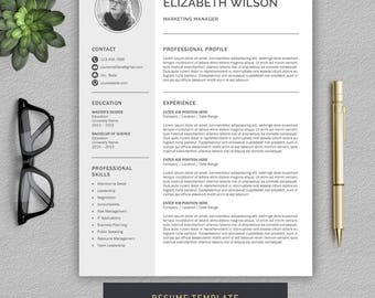 Resume Template / CV Template + Cover Letter | Professional Resume Template for Word | Creative and Modern Resume | Professional CV