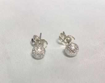 Sterling Silver 4mm ball earrings