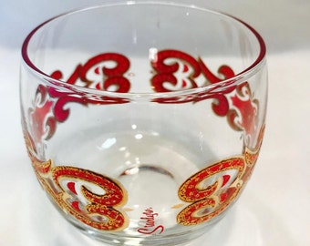 Vintage Starlyte Red and Gold Glasses