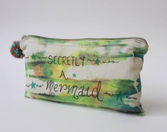 No, really I'm a Mermaid |Travel gift|Tie Dye Toiletry Zip Bag|Quote|Inspirational|Hippie Gift|Travel Gift|Birthday Gift|Christmas Gift