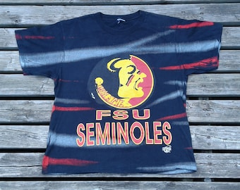 Killer and Crazy Vintage 90's Florida State Seminoles All Over Print t-shirt Made in Canada by Ravens Athletics