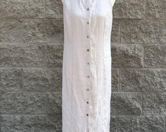 Vintage Valerie Stevens Linen Maxi Dress