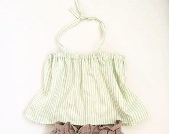 Halter neck smock top