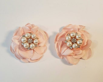 Champagne shoe clips etsy blush wedding shoes decorations clips 1 pair shoe clips decorations blush champagne wedding accessories junglespirit Image collections