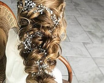 Wedding Hair Jewelry Etsy