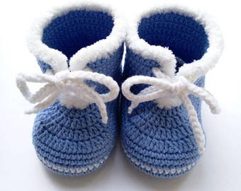 Blue Baby mocassins Baby reveal box Baby moccasins Baby uggs Baby moccs Loafer booties Baby loafer shoes Baby sandals Soft sole baby shoes
