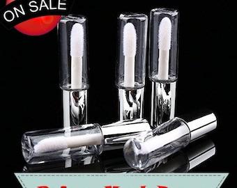 1.2ml Silver Mini Lip Gloss Tube Lip Balm Cute Bottle Empty Cosmetic Gloss Container Tube Travel Gloss for Split Charging DIY