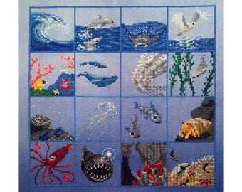 Ocean Sampler Cross Stitch Pattern PDF Instant Download