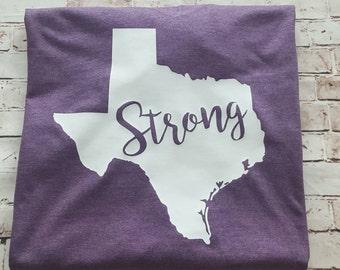 Texas Strong Shirt, Texas Strong, Texas T-shirt, Don't Mess with Texas tee, Hurricane Harvey Fundraiser