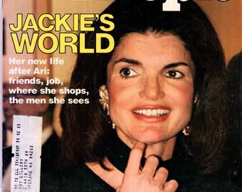 Jackie Onassis People Magazine April 18, 1977