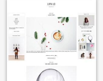 LIMITÉ! Lipa Lo | Réactif minimaliste Premade de Blogger