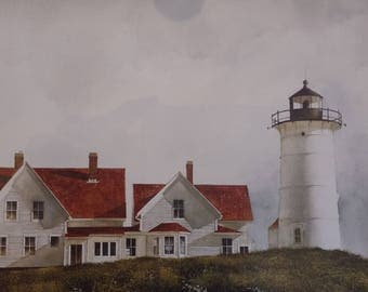 Lighthouse Trio Framed Picture   Double Matted  Finished Wood Frame