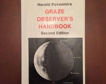 Graze Observer's Handbook BY Harold Povenmire, signed copy!